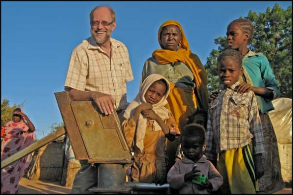 IAS International Director, Leif Zetterlund, in Darfur, Sudan