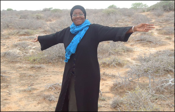 Janet Muthoni Kanga giving praise to the Lord in one of the first photographs taken of her after being captured by Somali pirates.