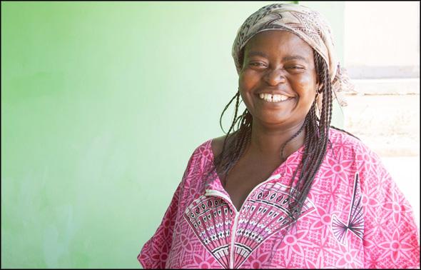 Regina Serwaa, because of her hard work, has reason to smile.