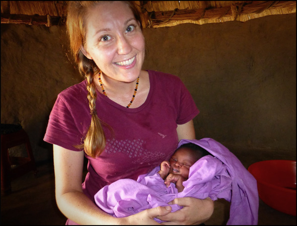 IAS missionary, Holly Findley, experiencing the joy of new life.